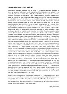 Zbyněk Bureš – Brčil z vodní Třináctky