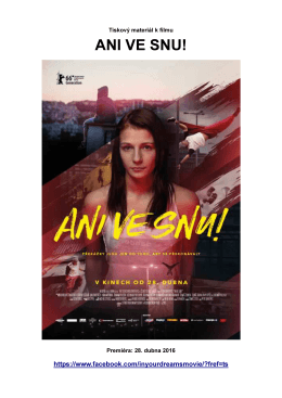 ANI VE SNU! - Cinemart a.s.