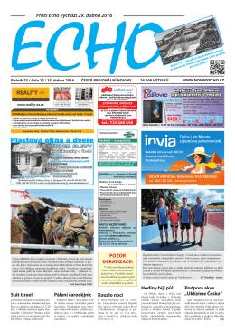 Příští Echo vychází 29. dubna 2016