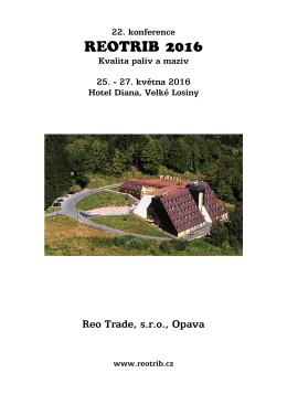 Program a přihláška Reotrib 2016