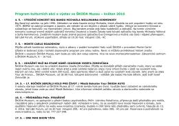 Program kulturních akcí a výstav ve ŠKODA