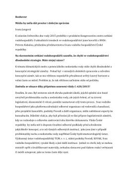 Rozhovor s RNDr. Petrem Kubalou, předsedou SVH ČR