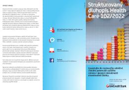 Strukturovaný dluhopis Health Care 102/2022