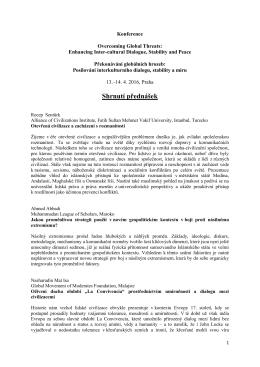 Shrnutí přednášek - Akademie věd ČR