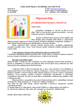 Informace o PT - Základní škola Šumperk, Sluneční 38