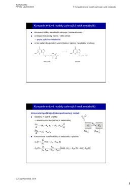 Kompartmentové modely zahrnující vznik metabolitů