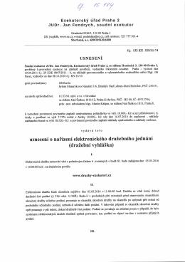 Usnesení - dražební vyhláška