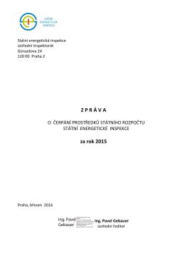 za rok 2015 - Státní energetická inspekce