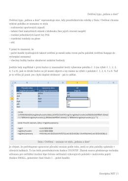 """Ověření typu """"jednou a dost"""" - Excel"""