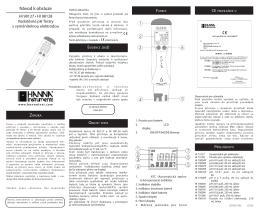 Návod k obsluze - Hanna Instruments