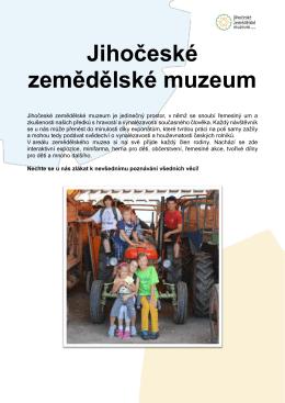 Expozice muzea Expozice historické zemědělské techniky