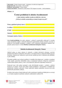 Příloha č4 - Čestné prohlášení k doložce bezúhonnosti