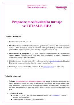 propozice FUTSAL