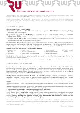 propozice soutěže - Sklářské muzeum