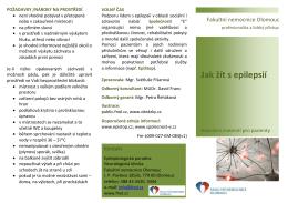 Jak žít s epilepsií - Fakultní nemocnice Olomouc
