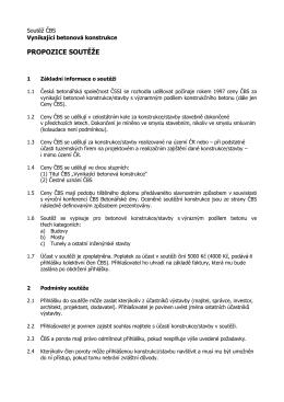 Propozice soutěže - Česká betonářská společnost ČSSI