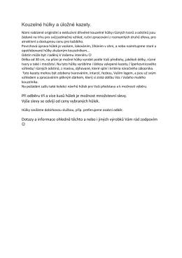 Detailní přehled kouhelných hůlek (s cenami) v PDF
