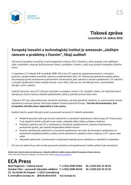 Press release SR EIT