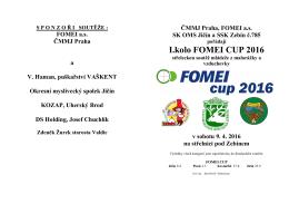 Propozice Fomei CUP 2016