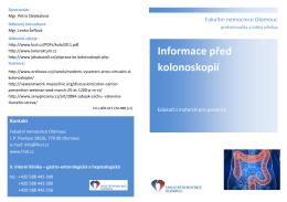 Informace před kolonoskopií - Fakultní nemocnice Olomouc