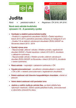 Judita - Limagrain Central Europe Cereals, sro