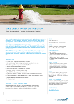 mike urban water distribution