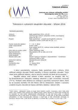CVVM SOÚ AV ČR - Centrum pro výzkum veřejného mínění