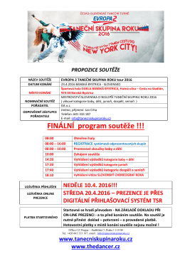 FINÁLNÍ program soutěže