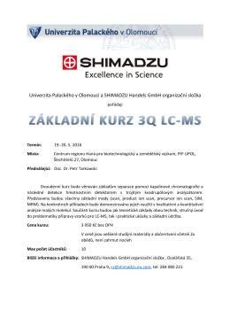 Pozvánka na základní kurz 3Q LC-MS