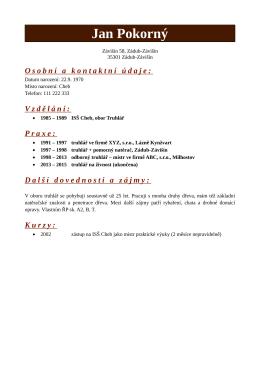 PDF verze - vzor-zivotopis.cz is almost here!