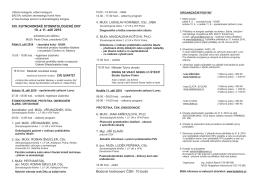 Stáhnout program - Salvia – Kutnohorské stomatologické dny