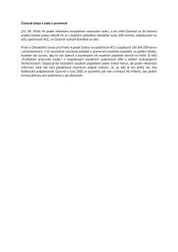 Častorál žaluje a žádá o prominutí (12. 04. 2016) Po podle