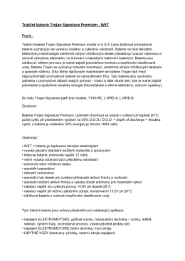 Trakční baterie Trojan Signature Premium - WET