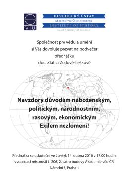 Pozvánka - Akademie věd ČR