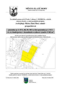 Pacht pozemků p. č. 47/1, 48, 49, 50/1 a část