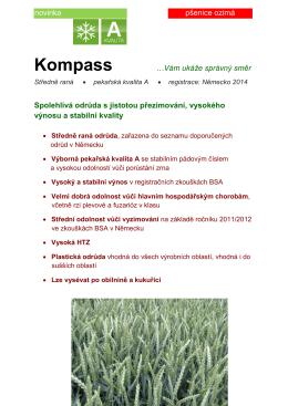 Kompass - spolehlivá odrůda s jistotou přezimování, vysokého