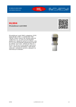 Přivzdušňovací ventil DN40 Přivzdušňovací ventil DN40 s