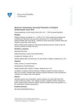 Sportovní reprezentace Univerzity Palackého na Českých