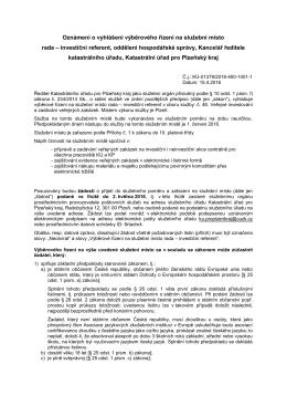 Rada - investiční referent