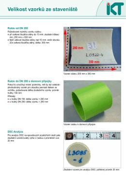 Velikost vzorků ze staveniště