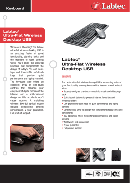 ultra flat wireless desktop usb.qxd