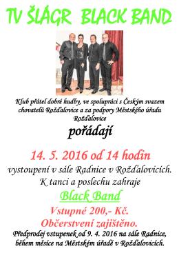 Vystoupení kapely Black Band