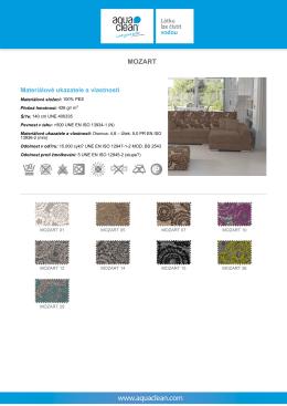 Více o látce MOZART - technické údaje a návod na čištění