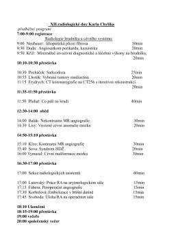 XII.radiologické dny Karla Chylíka předběžný program: 7:00