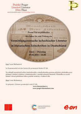 Vermittlungsversuche tschechischer Literatur in literarischen