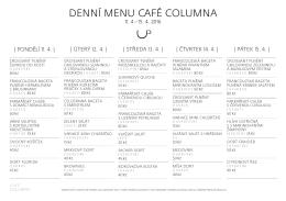 Menuzde - Restaurace Columna