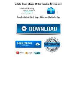 adobe flash player 10 for mozilla firefox free
