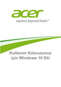 Acer Aspire ES1-531 (NX.MZ8EY.005) Kullanım Kılavuzu