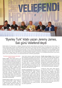 """""""Byerley Turk"""" kitabı yazarı Jeremy James, Salı"""