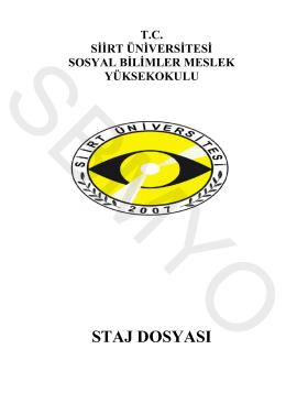 staj dosyası - Sosyal Bilimler Meslek Yüksekokulu